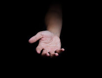 Human open empty hands with palms up. Royalty Free Stock Photography