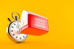 Human organ for transplant concept Royalty Free Stock Images
