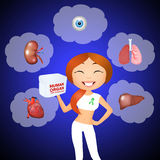 Human organ for trasplant Royalty Free Stock Photography