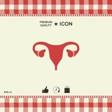 Human organs. Female uterus icon. Graphic element for your design Royalty Free Stock Photo