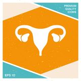 Human organs. Female uterus icon. Human organs. Female uterus silhouette symbol Royalty Free Stock Photos