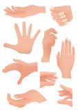 Human palm set Royalty Free Stock Photo