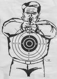 Human paper shooting target Stock Photography
