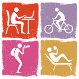 Human pastime icon set Stock Photography