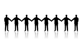 Human people chain vector Stock Image