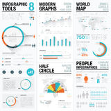 Human and people infographic vector elements in blue and red color Royalty Free Stock Photography