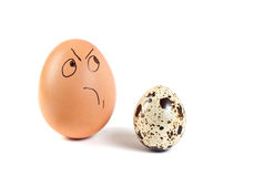 Human persons on  eggs Royalty Free Stock Photography