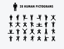 Human Pictogram  Icons Royalty Free Stock Photo