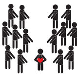 Human pictogram Stock Images