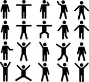 Human pictograms Royalty Free Stock Images
