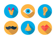 Human pieces icon in a flat design with long shadow Royalty Free Stock Photography