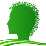 Human plants. Vector illustration of stylized human with plants Royalty Free Stock Photography