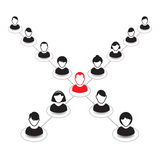 Human portrait and Icon. Office team and Leader. Royalty Free Stock Images