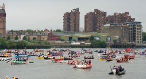 The human power boats at the Royal Pageant - Royalty Free Stock Photography
