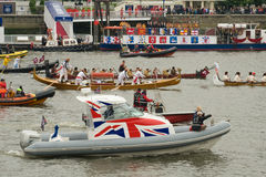 The human power boats at the Royal Pageant Royalty Free Stock Image