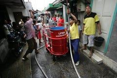 Human-powered fire extinguisher Stock Photos