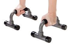 Human press up exercising Stock Photo