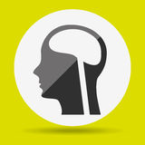 Human profile design Royalty Free Stock Photos