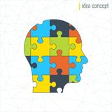 Human profile puzle Royalty Free Stock Image