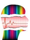 Human pulse. Illustration isolated on white background Royalty Free Stock Photo