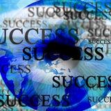 Human pupil with 'success'. Human iris with 'success' written over it Stock Photos