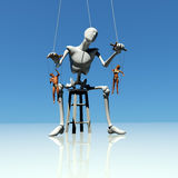 Human puppets. Levels of control concept using puppets on strings Royalty Free Stock Photo