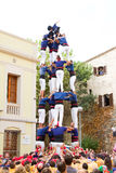 Human pyramid Royalty Free Stock Image