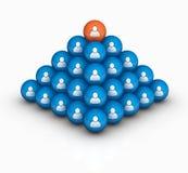 Human pyramid. Social human pyramid 3d image Stock Images