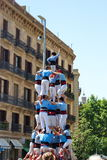 Human pyramid in Barcelona Spain Stock Images