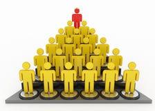 Human pyramid and king crown Stock Photography