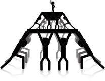 Human pyramid Royalty Free Stock Images