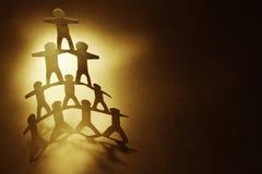 Human pyramid Stock Photos