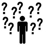 Human with question mark symbol Royalty Free Stock Image