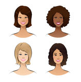 Human race women Stock Images