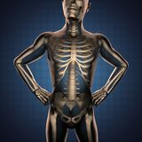 Human radiography scan  with bones Stock Images