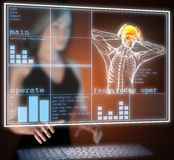 Human radiography scan on hologram Stock Photography