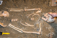 Human remains in sand 3 Stock Image