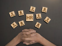Human resourc, select assessment personnel. concept HR. And interview, hiring stock image