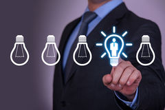 Human Resource Bright Idea on Touch Screen Royalty Free Stock Photo