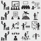 Human Resource, Business And Management Icon Set Stock Photo