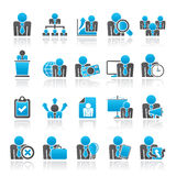 Human resource and business icons Stock Photography