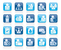 Human resource and business icons Royalty Free Stock Photography