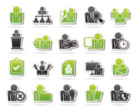 Human resource and business icons Stock Images