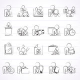 Human resource and business icons Royalty Free Stock Photos