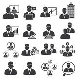 Human resource and business management icons Royalty Free Stock Photos