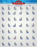 Human resource,Businessma n icons,Blue version.  Royalty Free Stock Photo