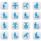 Human resource,Businessma n icons,Blue version.  Royalty Free Stock Images