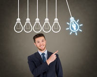 Human Resource Businessman Bright Idea Stock Image