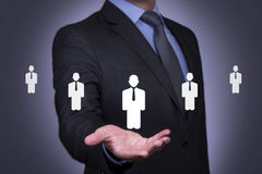 Human Resource on Businessman Hand Royalty Free Stock Photos