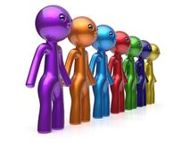 Human resource characters social network teamwork chain royalty free illustration